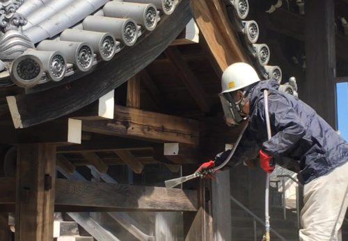 和歌山市 S寺 手水舎 施工事例を追加しました